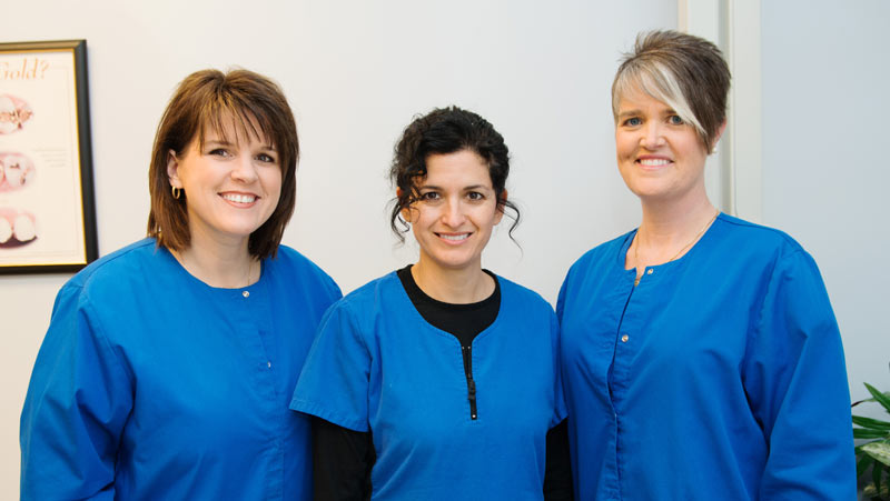 Our Dental Hygienists: Melissa, Victoria, Sharon