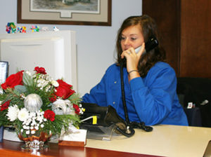 Helpful dental assistants are pictured here answering questions from callers to our Middletown, Delware dental office.