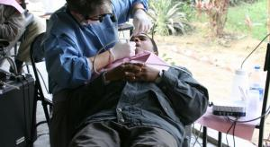 Dr. McAllister performing a procedure in India